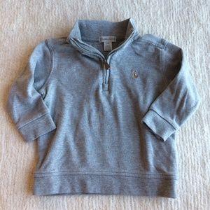 Ralph Lauren baby boy half zip sweatshirt gray